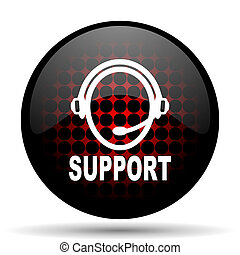 support red glossy web icon