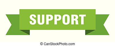 support ribbon. support isolated sign. support banner