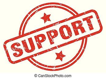 support round grunge isolated stamp