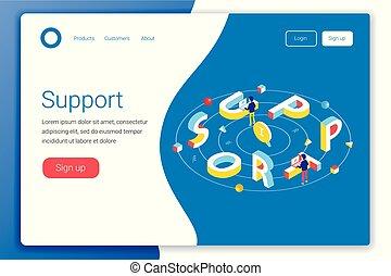 Support service design concept.
