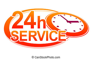 support sign - abstract sign for service available 24 hours