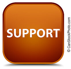 Support special brown square button