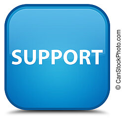 Support special cyan blue square button