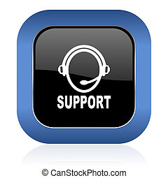 support square glossy icon