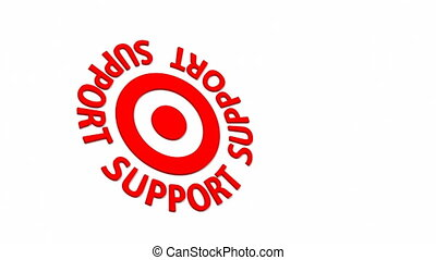 Support Target - Target and dart with circular text. Part of...