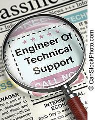 support., technique, embauche, we're, 3d., ingénieur