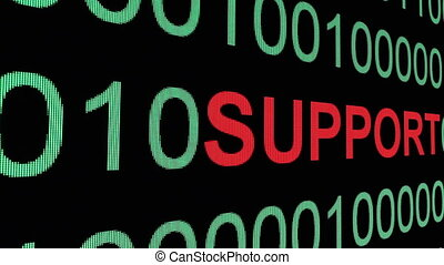 Support text on binary data