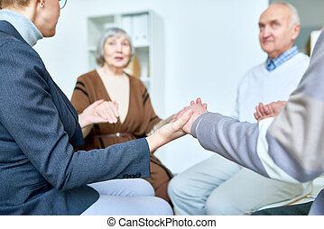 Support Therapy Session for Senior People