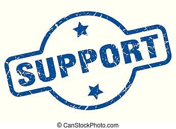 support vintage stamp. support sign