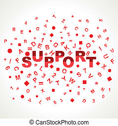 Support word with in alphabets