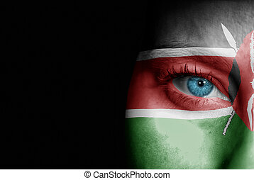 Supporter of Kenya