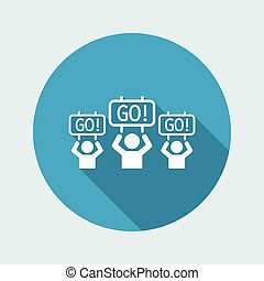Supporters event - Vector web icon
