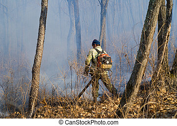 Suppression of forest fire 90