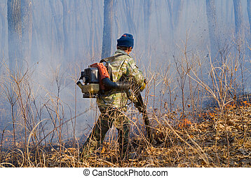 Suppression of forest fire 91