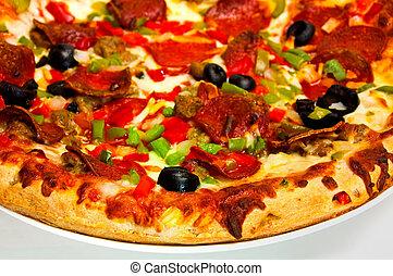 suprême, pizza.