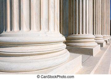 suprême, uni, tribunal, etats, colonnes, rang
