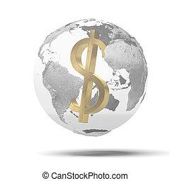 suprematie, wereld, dollar