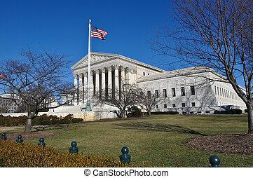 Supreme Court Building in Washington DC