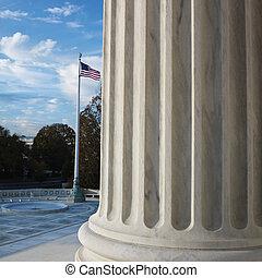 Supreme Court building. - Column of Supreme Court building...