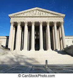 Supreme Court Building, Washington, DC, USA.