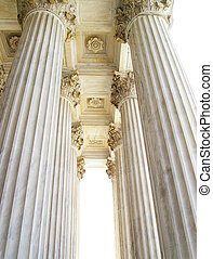Supreme Court columns - Stone columns in front of the...