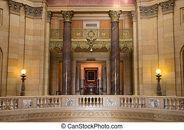 Interior of Minnesota State Capitol at East Wing showing State Supreme Court entrance