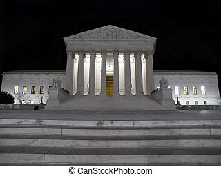United States Supreme Court on a cold winter night.