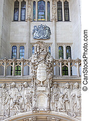 Supreme Court of the United Kingdom, Middlesex Guildhall building, detail of facade, London, United Kingdom
