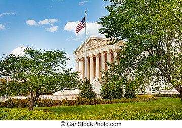 Supreme Court of United States Building, US Flag