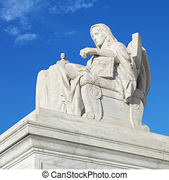 Supreme Court sculpture.