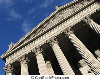Supreme court building in New York
