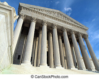 Supreme Court Washington DC - Late afternoon at the historic...