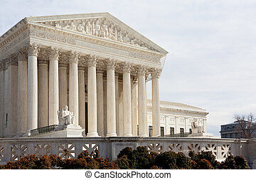 Supreme Court Washington DC USA - Facade of US Supreme court...