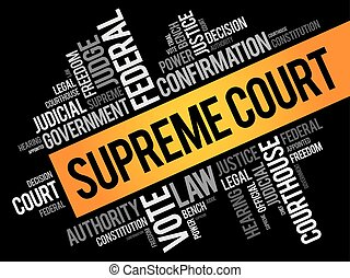 Supreme Court word cloud collage