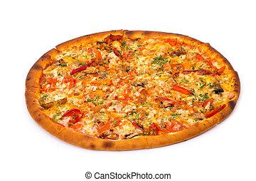 Pizza - Supreme Pizza on white