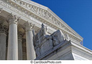 supremo, tribunal, estatua