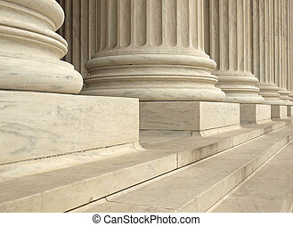 supremo, unido, tribunal, washington dc, estados, columnas