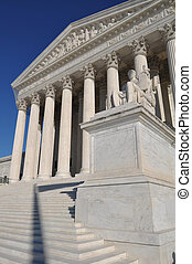 supremo, unido, tribunal,  Washington, CC, estados