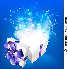 suprise, magisk, gåva