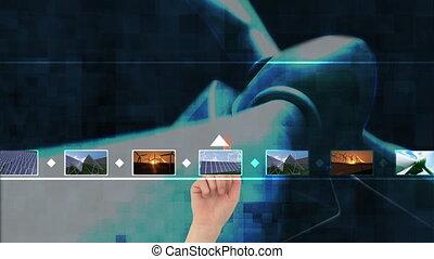 sur, écologie, choisir, vidéos, main