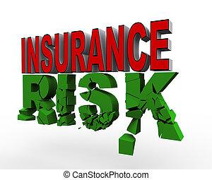 sur, 3d, assurance, risque