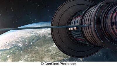 sur, 4k, porcelaine, orbites, corée, satelite