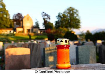 sur, a, cimetière