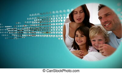sur, animation, famille