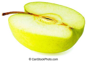 sur, blanc, pomme