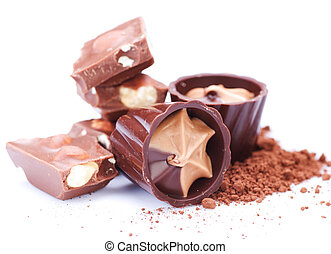 sur, chocolat blanc