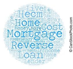 sur, concept, renverser, texte, vérité, hypothèques, wordcloud, fond