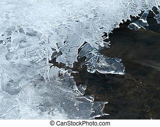 sur, couverture, lac, glace