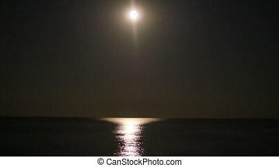 sur, entiers, mer, lune