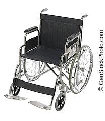 sur, fauteuil roulant, équipement, orthopédique, blanc, ...